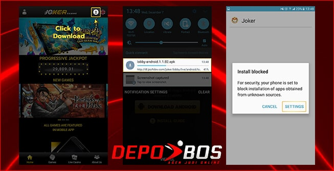 step download android joker118 pertama