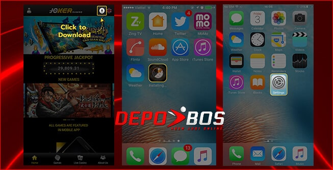 step download ios joker118 pertama